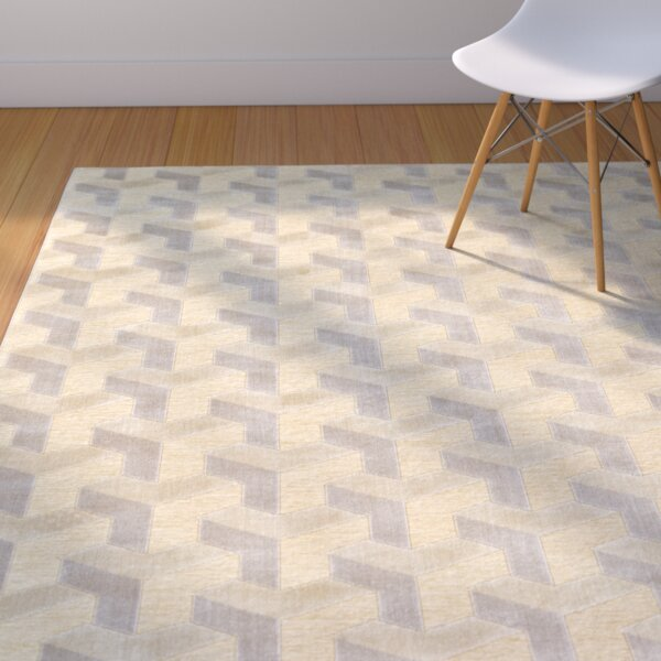Muriel Cream/Silver Area Rug by Langley Street