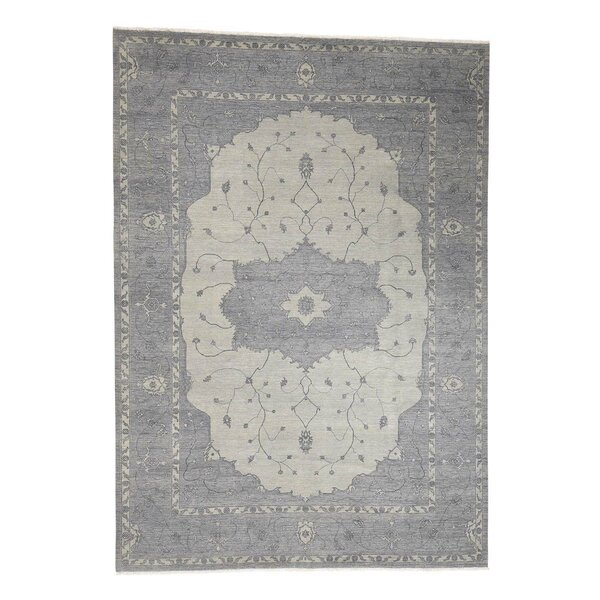 One-of-a-Kind Newcastle Serapi Oriental Hand-Knotted Gray Area Rug by Astoria Grand