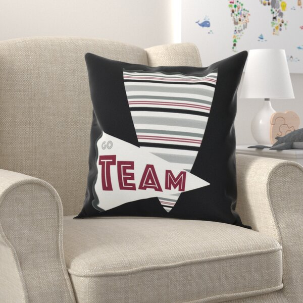 Bauer Go Team! Word Outdoor Throw Pillow by Zoomie Kids