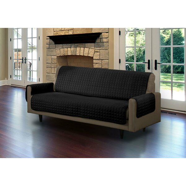 Microsuede Box Cushion Sofa Slipcover by Symple St