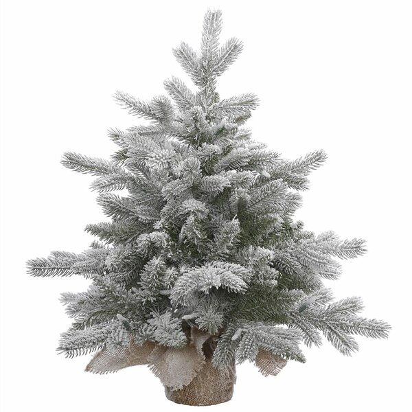 18 Frosted Pine Artificial Christmas Tree with Base by The Holiday Aisle