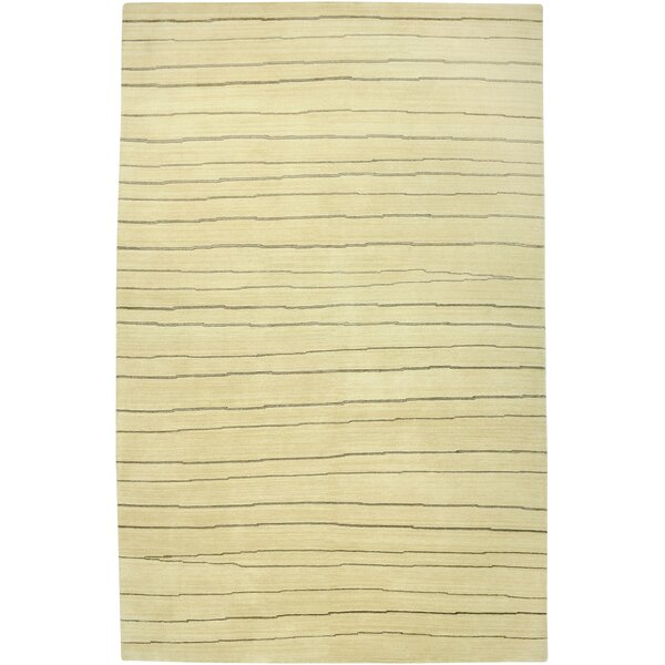 Wankaner Hand-Knotted Ivory Area Rug by Meridian Rugmakers