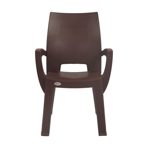 Keene Commercial Grade Stacking Patio Dining Chair by Winston Porter