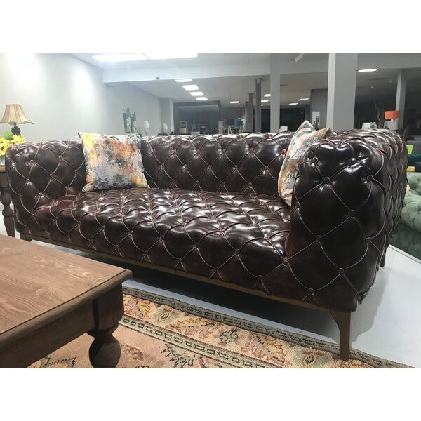 Explore New In Chilson Chesterfield Leather Sofa by 17 Stories by 17 Stories