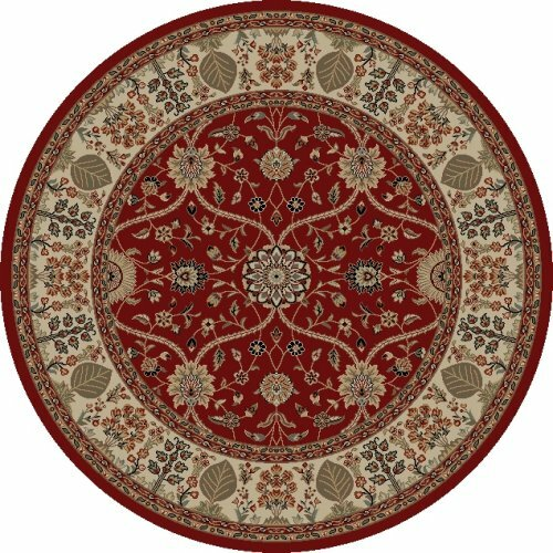 Jewel Voysey Red Floral Area Rug by Threadbind