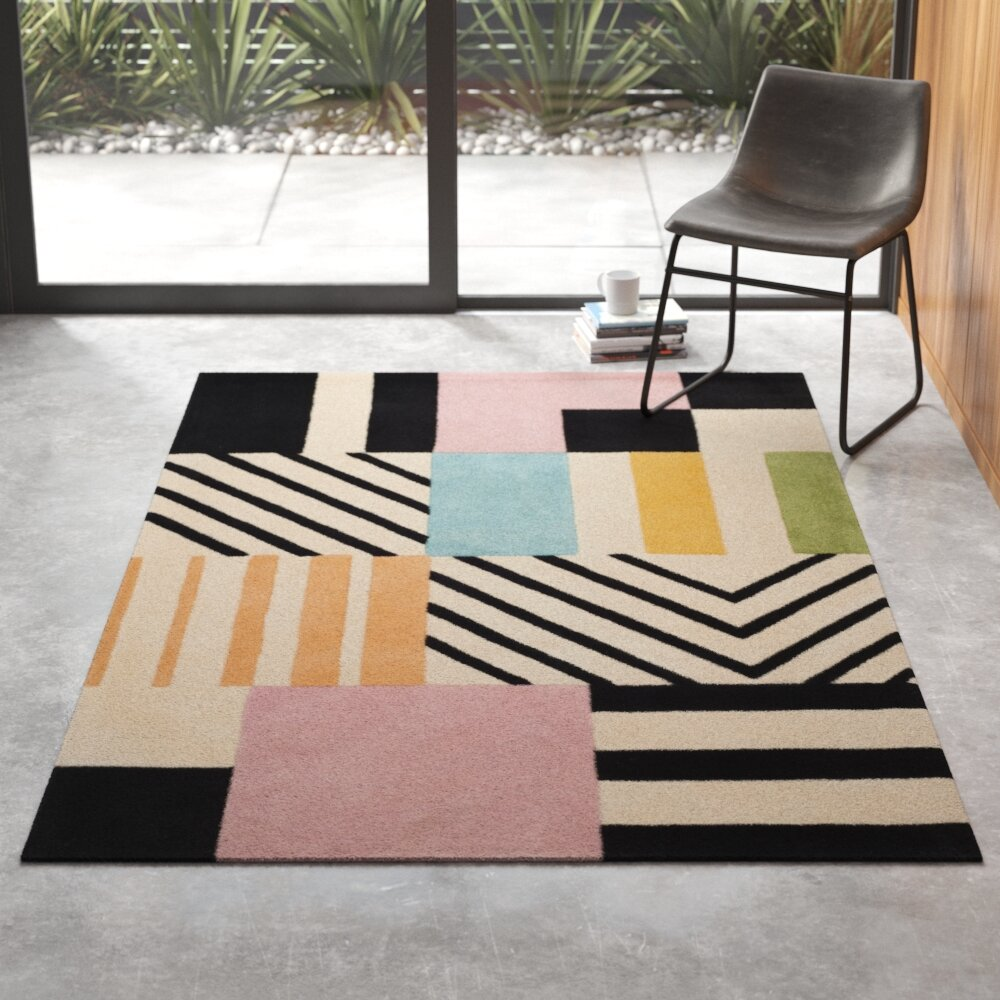Elin Hand Tufted Wool Multicolor Area Rug Reviews Allmodern
