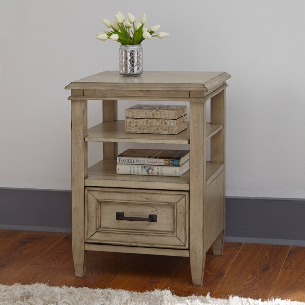 Holsworthy 1 Drawer Nightstand by Laurel Foundry Modern Farmhouse