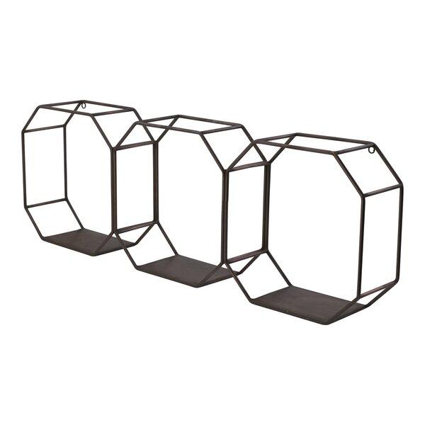Delvecchio Geometric Metal Wall Shelf by Corrigan Studio