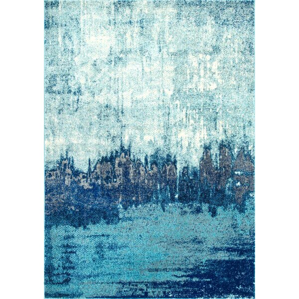 Gleno Blue Area Rug by Wrought Studio