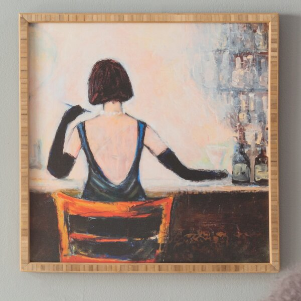 Bar Scene Woman Framed Graphic Art by East Urban Home