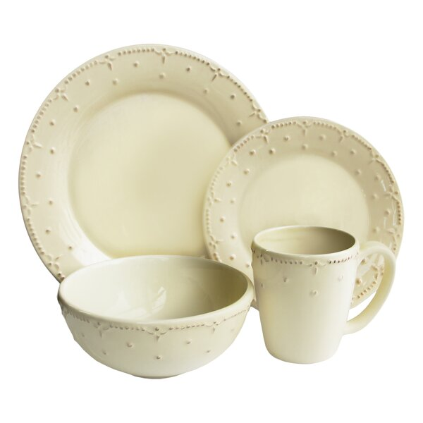 Genevieve 16 Piece Dinnerware Set, Service for 4 by Design Guild