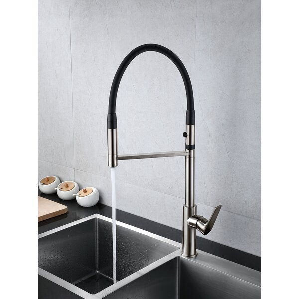 Jasmine Pull Down Single Handle Kitchen Faucet By New Spec Inc