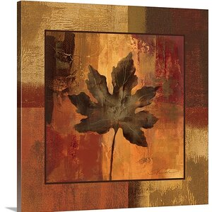 'October Leaf I' by Silvia Vassileva Painting Print on Canvas by Great Big Canvas