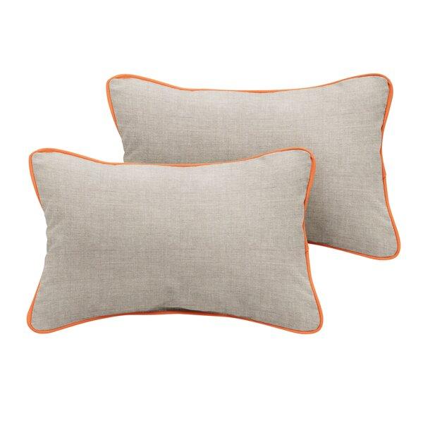 Sharpes Sunbrella Cast Outdoor Lumbar Pillow (Set of 2) by Rosecliff Heights