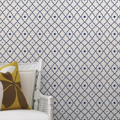 """Harrison Paintable Peel and Stick Wallpaper Panel Bloomsbury Market Size: 48"""" L x 24"""" W"""