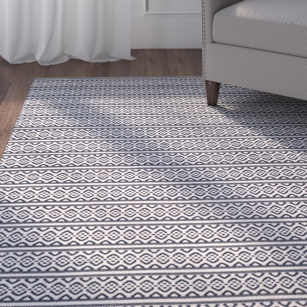 Parthena Hand-Woven Gray Area Rug by Charlton Home