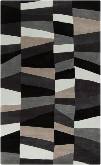 Carlotta Charcoal Gray/Misty White Area Rug by Langley Street