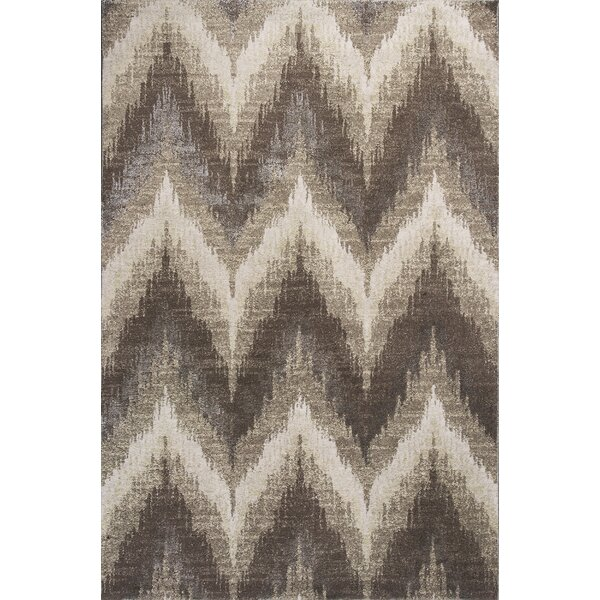Timeless Champagne Chevron Area Rug by Donny Osmond Home