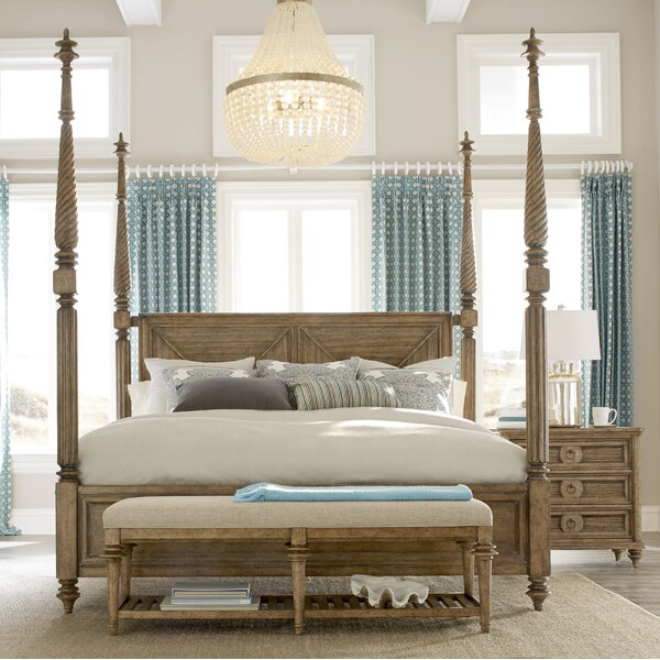 Akrotiri Queen Four Poster Bed by Bay Isle Home