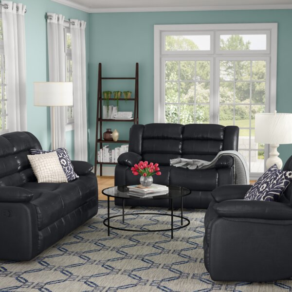 Hamlin Reclining 3 Piece Living Room Set by Red Ba