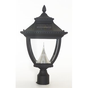 Pagoda Solar 1-Light LED Lantern Head By Gama Sonic Outdoor Lighting