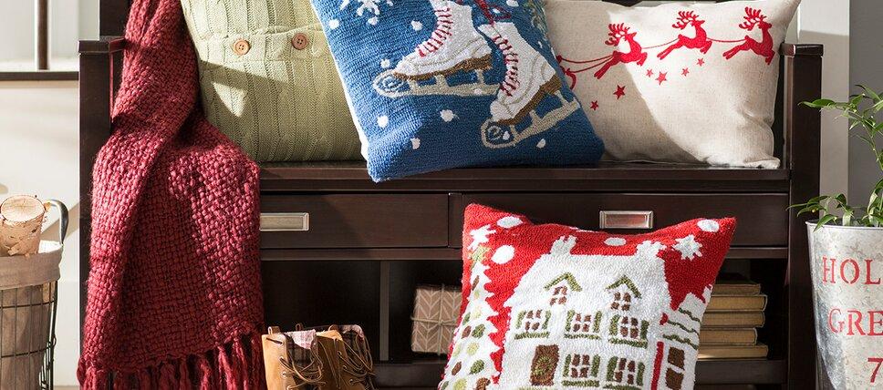 festive throw pillows