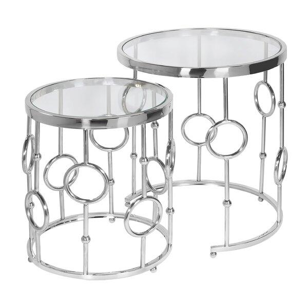 Lancelot Nesting Table (Set of 2) (Set of 2) by Rosdorf Park