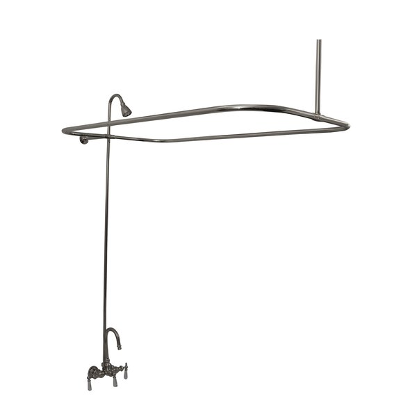 Triple Handle Wall Mounted Clawfoot Tub Faucet with Diverter by Barclay Barclay
