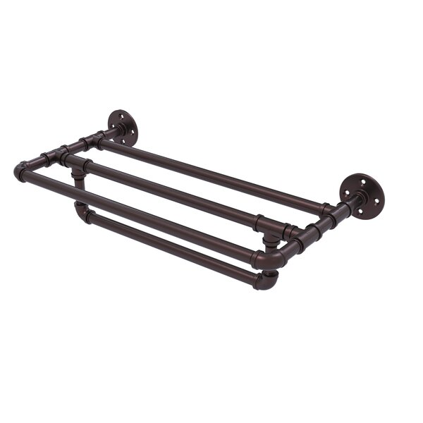 Pipeline 30 Wall Mounted Towel Shelf with Towel Bar by Allied Brass