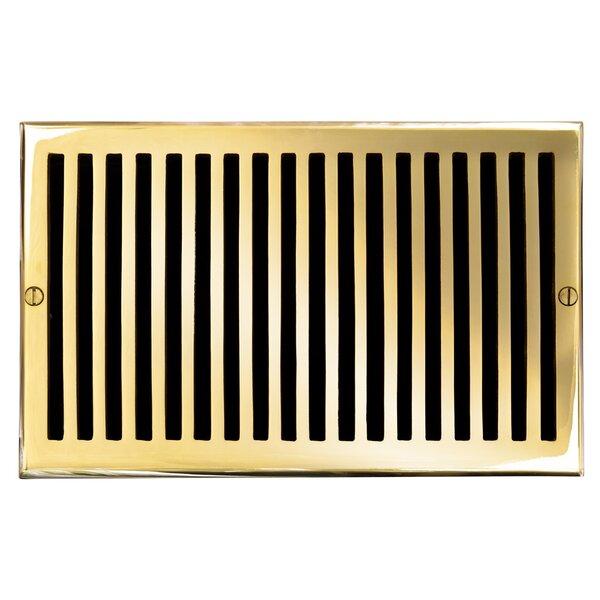 6 x 10 Solid Cast Brass Air Return Trim in Polished Brass by Brass Elegans
