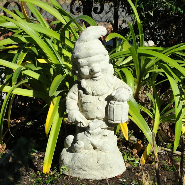 Vintage Gnome with Frog Statue by Designer Stone, Inc