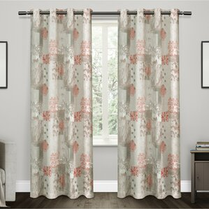 Patchwork Semi Sheer Curtain Panels (Set Of 2)