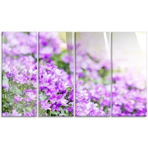 'Beautiful Campanula Flower Bouquet' 4 Piece Photographic Print on Canvas Set by Design Art