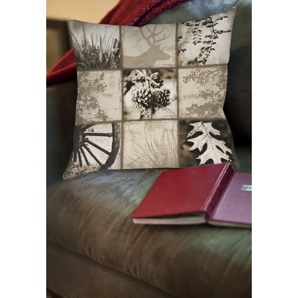 Mountain Retreat I Printed Throw Pillow by Manual Woodworkers & Weavers