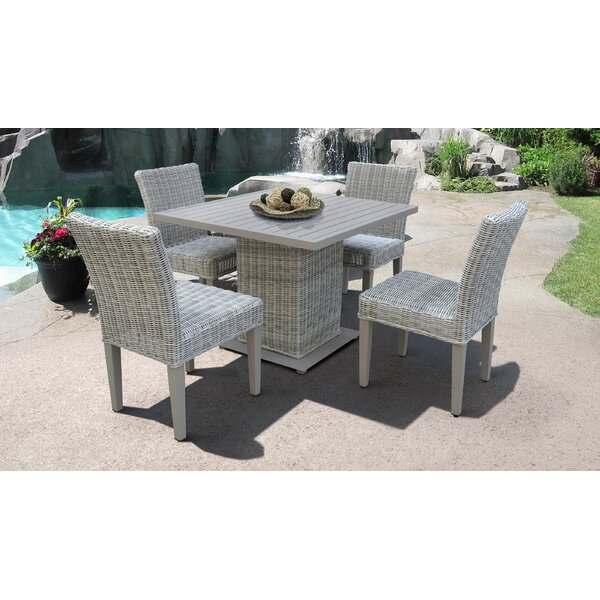 Desiree Square 5 Piece Dining Set by Rosecliff Heights