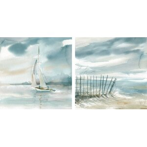 Subtle Mist I & II by Carol Robinson 2 Piece Painting Print on Canvas Set by Star Creations