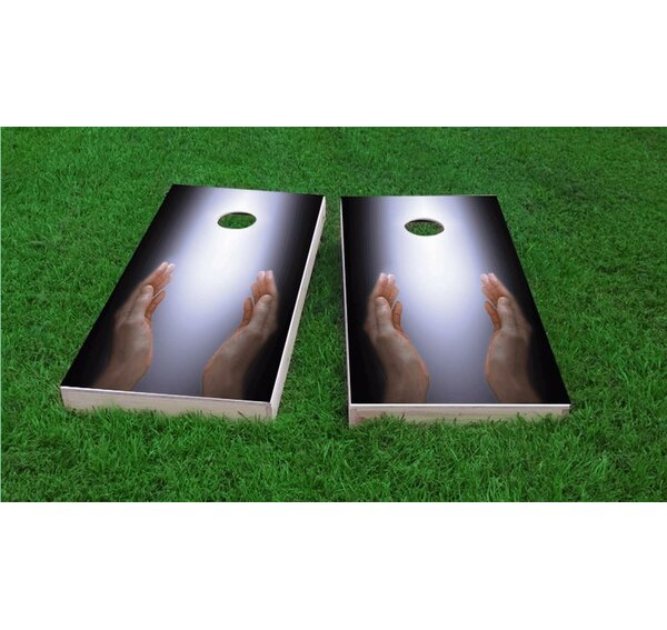 Worshiping The Divine Cornhole Game Set by Custom Cornhole Boards