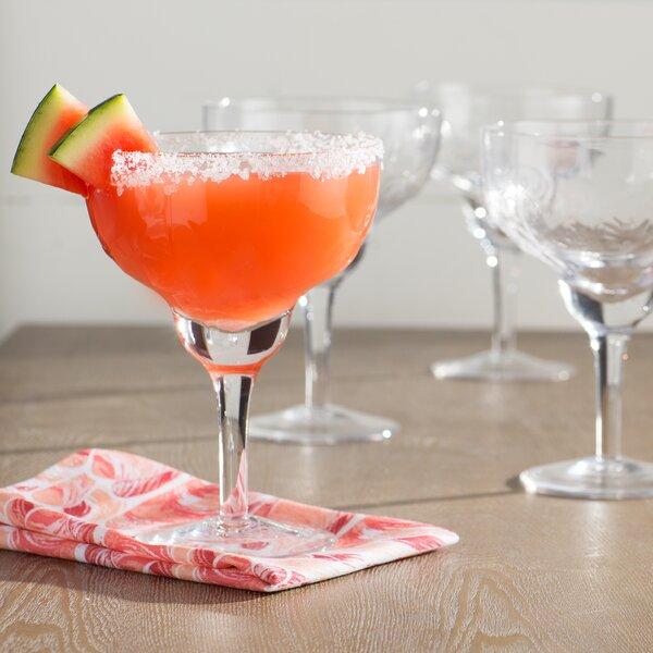 Cady 14 Oz. Margarita Glass (Set of 4) by Beachcrest Home