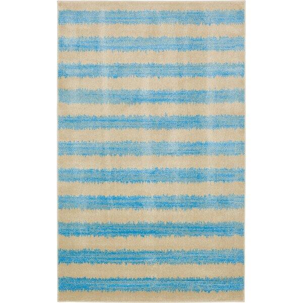 Travis Traditional Blue/Beige Area Rug by Viv + Rae