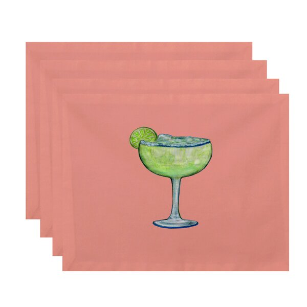 Felice Margarita Plain Placemat (Set of 4) by Ivy Bronx