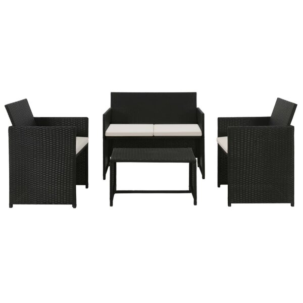 Athlone 4 Piece Rattan Sofa Seating Group with Cushions by Ebern Designs