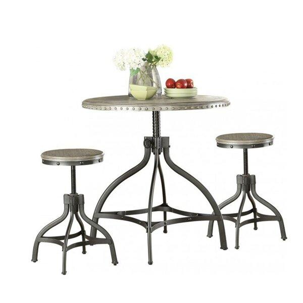 Mckibben 3 Piece Counter Height Breakfast Nook Dining Set by Williston Forge Williston Forge