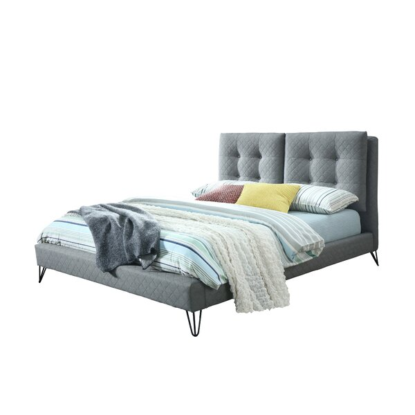 Bilst Metal Legs Queen Upholstered Platform Bed by Brayden Studio