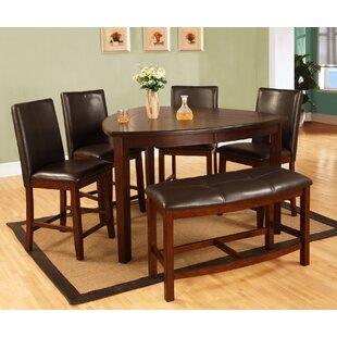 6 Piece Counter Height Dining Set & Bench Counter Height Kitchen u0026 Dining Room Sets Youu0027ll Love | Wayfair