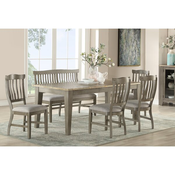 Cates 6 Piece Solid Wood Dining Set by One Allium Way One Allium Way