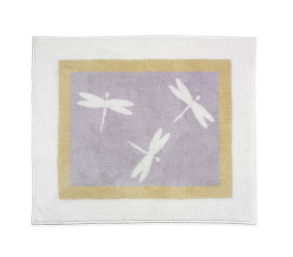 Dragonfly Dreams Purple Area Rug by Sweet Jojo Designs