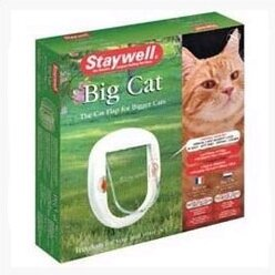 White Four-Way Lock Big Cat Flap by PetSafe®