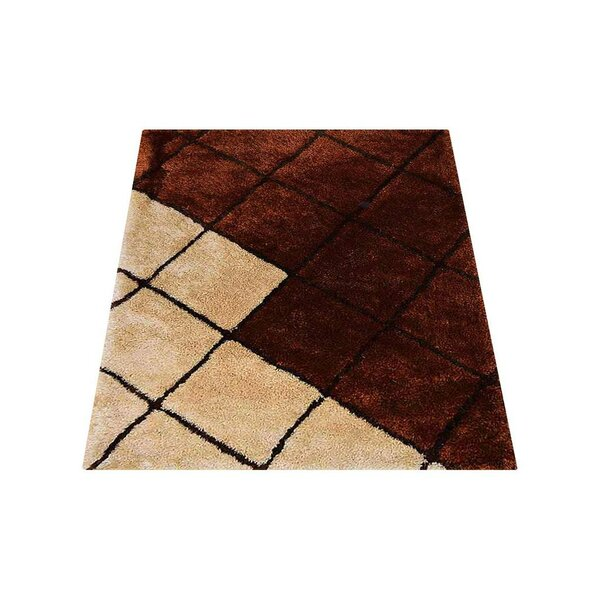 St Catherine Hand-Tufted Brown/Beige Area Rug by Millwood Pines