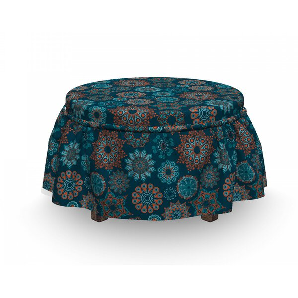 Summer Illustration Ottoman Slipcover (Set Of 2) By East Urban Home