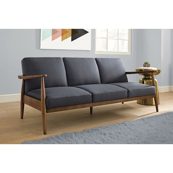 Jermaine Mid-Century Modern Convertible Sofa by Langley Street